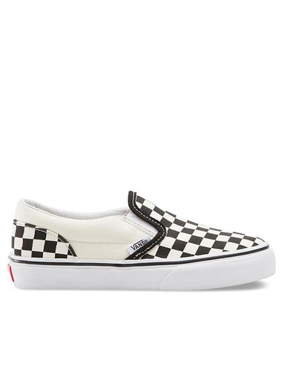 VANS CLASSIC SLIP ON CHECKERBOARD KIDS  SHOES S21