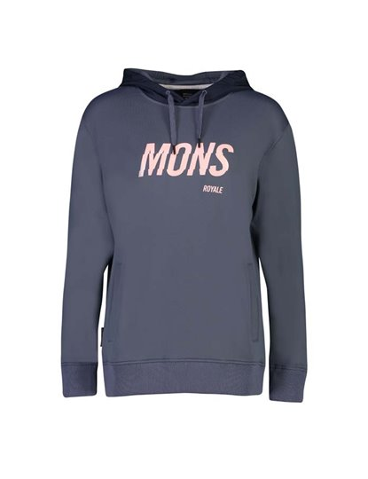 MONS ROYALE DECADE LOGO HOODY WOMENS S19