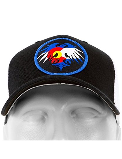 NEVER SUMMER COLORADO EAGLE PATCH FLEX FIT HAT S19