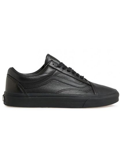 VANS OLD SKOOL LEATHER BLACK SHOES S19