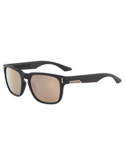 DRAGON MONARCH ION MATTE BLACK/ROSE GOLD SUNGLASSES S19