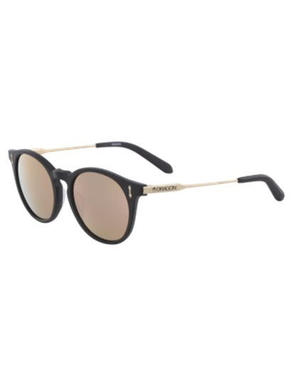 DRAGON HYPE MATTE BLACK/ROSE GOLD SUNGLASSES S19