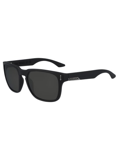 DRAGON MONARCH XL SUNGLASSES JET BLACK S20