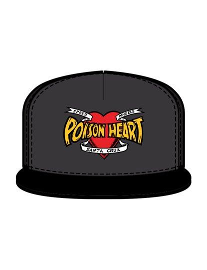SANTA CRUZ BULLET POISON HEART SNAP BACK HAT S21